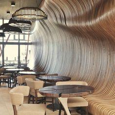 Концептуальный «кофейный» дизайн кафе-магазина
