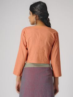 Coral Natural-dyed Cotton Blouse