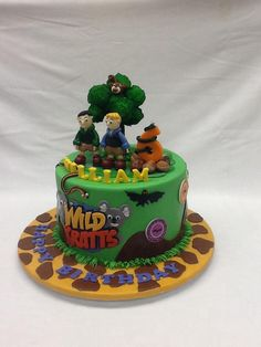 Amazing Wild Kratts cake by the amazing Palo Alto Baking Co. in Palo Alto, CA. They are incredible bakers and cake decorators!