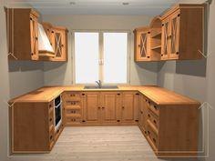 Provence Style, Corner Desk, Kitchen Cabinets, Rustic, Furniture, Design, Home Decor, Haciendas, Restaining Kitchen Cabinets
