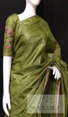 Cutwork Saree, Embroidery Saree, Tussar Silk Saree, Formal Saree, Saree Jewellery, Indian Silk Sarees, Simple Sarees, Stylish Sarees, Elegant Saree