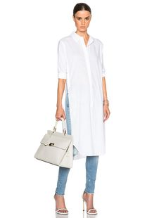 Image 1 of Equipment Pascal Tunic Top in Bright White Long Shirt Outfits, Long Shirt Dress, Dress Outfits, Dress Over Pants, Dresses With Leggings, Casual Wear, Casual Outfits, Cute Outfits, Modest Fashion