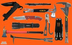 """""""I have too many tools,"""" said no firefighter ever. Channellock 87 Compact Rescue Tool ($36). Stanley FatMax Fubar Tool ($46). Paratech Biel Tool ($166). Statgear T3 Tactical Triage & Auto Rescue Tool ($37). Gerber Impromptu Tactical Pen ($43). Gerber Hinderer Rescue Knife ($68). EagleTac G25C2 MK II XM-L2 Flashlight ($110). Gerber MP1 Multi-Tool ($77). Quick-Wedge Non-Sparking Pick Head Axe ($373). Leatherhead Tools Carbon Steel Halligan Bar ($330)."""