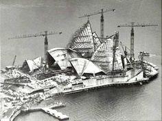 Opera House under construction, Jorn Utzon.