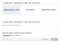 erin / facebook: add a photo (1), say something (2)
