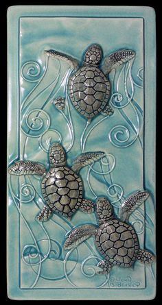 Magnificent Home decor, art tile, ceramic tile, Magic in the Water, baby sea turtles, wall art  The post  Home decor, art tile, ceramic tile, Magic in the Water, baby sea turtles, wall a…  appeared ..
