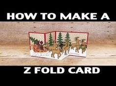 Stamping Jill - How To Make Z Fold Card - YouTube