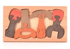 Puzzle en bois jouet en bois trieur en bois jouets par EcoForBaby