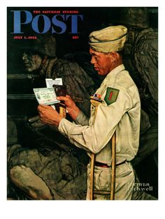 War Bond Saturday Evening Post Cover, July 1,1944 Giclee Print by Norman Rockwell