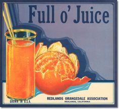 Fruit Crate Labels - Antique Vintage Art Fruit Crate Label
