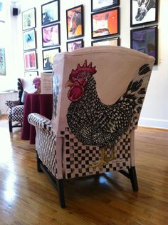 eric fusnacht painted chairs WOW