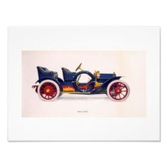 Vintage Car Wall Art  Lovely illustration of a vintage car. Would look great in a den or man cave.