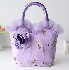Fashion Handbags Flowers Women Shoulder Bag Bow Large Embroidered Lace Cloth Casual Diagonal Package