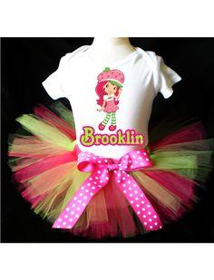 Strawberry Shortcake Birthday Outfit Costume by PrettyAsAPrincess2, $20.99