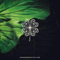 Saint Patricks Day Post 2015. Geometric four leaf clover! #clover #stpattys