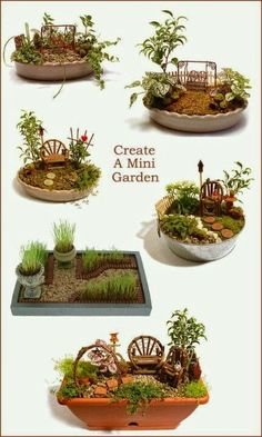 Miniature gardens More