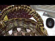 Cómo tejer cestas de manejar los papeles. Parte VI. - YouTube