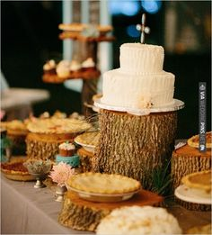 rustic cake table | CHECK OUT MORE IDEAS AT WEDDINGPINS.NET | #weddingcakes