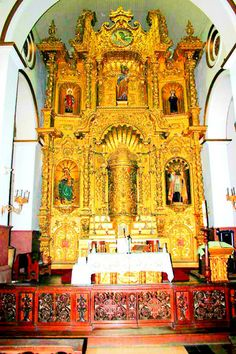 Church of San Jose, the church of the golden altar in Panama. The locals whitewashed this altar to save it from marauding pirates!
