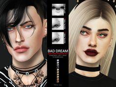 Bad Dream Nose Ring Piercing Set - The Sims 4 Catalog Fake Piercing, Spiderbite Piercings, Septum Piercing, Conch Ring, Septum Ring, Faux Nose Ring, Nose Ring Stud, Nose Earrings, Make Up