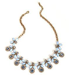 Lt Blue Dreamy Floral Necklace Set at WindsorStore