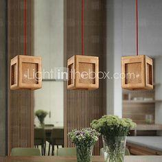 lustres maishang® estilo mini moderna sala de estar / contemporâneo / quarto / sala de jantar / sala de estudo / escritório madeira / bambu de 2017 por R$479.93
