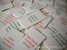 Lauras Crafty Life: Advent Calendar Activities