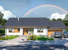 DOM.PL™ - Projekt domu ARP TAMARA MODERN WZ G2 CE - DOM AP2-31 - gotowy koszt budowy Small House Plans, Bungalow, Facade, Sweet Home, Exterior, House Design, Cabin, Mansions, House Styles