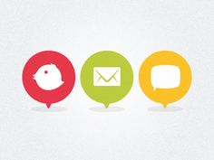 loving these quirky little contact icons // by Andrew Rees