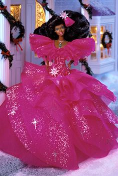 1990 Happy Holidays® Barbie® Doll I have both Caucasian  and African-American