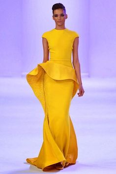 Newest Design Off the Shoulder Yellow Ruffles Long Evening Gowns Red Carpet…