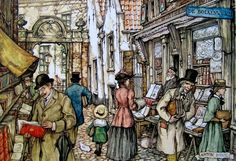 Pieck, Anton (b,1895)- Outdoor Booksellers -2a