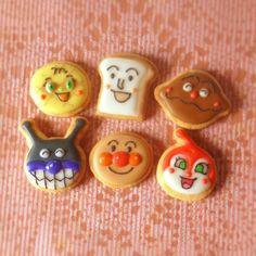 アンパンマンと仲間たち*アイシングクッキー