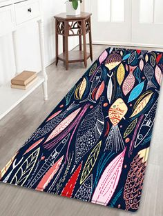 Cartoon Fish Pattern Indoor Outdoor Area Rug - COLORMIX W24 INCH * L71 INCH