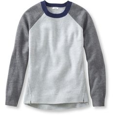 L.L.Bean Snow Pass Wool Sweater ($99) ❤ liked on Polyvore featuring tops, sweaters, long tops, l.l.bean, block sweater, flat top and woolen sweaters