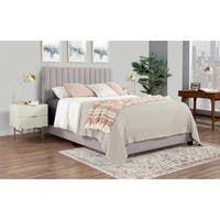 Shop Colette Platform Bed - On Sale - Overstock - 28165569 Upholstered Platform Bed Queen, Upholstered Bedroom Set, Pink Headboard, Modern Headboard, Queen Platform Bed, Tufted Bed, Pink Bedding, Big Beds, California King Bedding