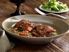 Cider Vinegar-Braised Chicken Thighs Recipe | Kitchen Daily