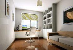 clean designed study room
