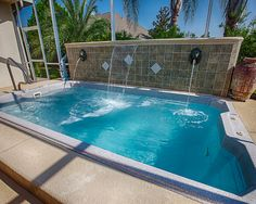 1000 images about swimming pool designs on pinterest - Swimming pool fountain ideas ...