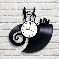 The Nightmare Before Christmas - 4 vinyl record clock in Home, Furniture & DIY, Clocks, Wall Clocks   eBay