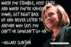 Hillary Clinton is inspirational ♡