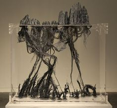 渡: No.2 艺术家:朱敬一 物件 | 亚克力、树脂、铁丝 | 1470x670x1200mm | 2013