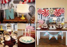 Old fashion barbershop first birthday Boy Birthday Party Ideas www.spaceshipsandlaserbeams.com/blog