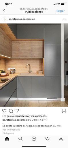 New Kitchen Interior, Modern Kitchen Interiors, Modern Kitchen Design, Home Design Decor, Küchen Design, House Design, Home Decor, Kitchen Furniture, Furniture Design