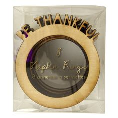 Be Thankful Napkin Ring