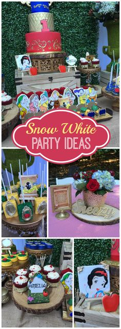 How gorgeous is this Snow White birthday party?! See more party ideas at CatchMyParty.com!