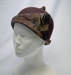 felted hat-wool-silk-feathers