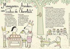 Food Illustrations, Stevia, Chocolate, Food Porn, Drinks, Health, Illustrated Recipe, Aguilera, Apples