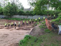 Bucket line at the University of Bristol's excavations @digberkely