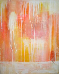 Painting Coral Abstract Painting Original by OraBirenbaumArt